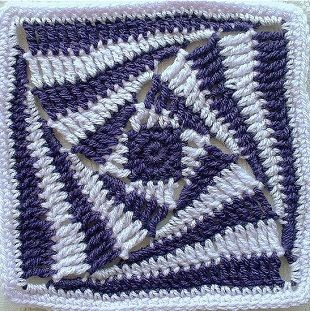 Knitting crochet motif