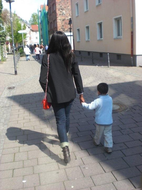 a sunday walk in Hanau city