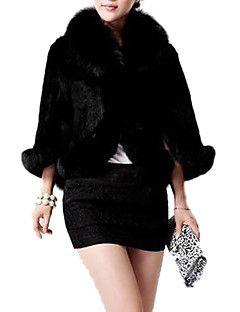 kadın zarif taklit kürk sıcak kolsuz ceket