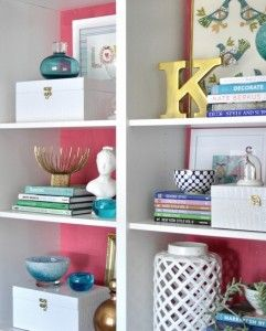 How to Style a Bookcase by The Decorologist (but how would I find books if they were arranged by color?)