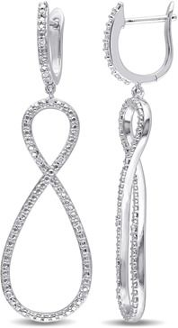 Amour Sterling Silver Infinity Earrings.