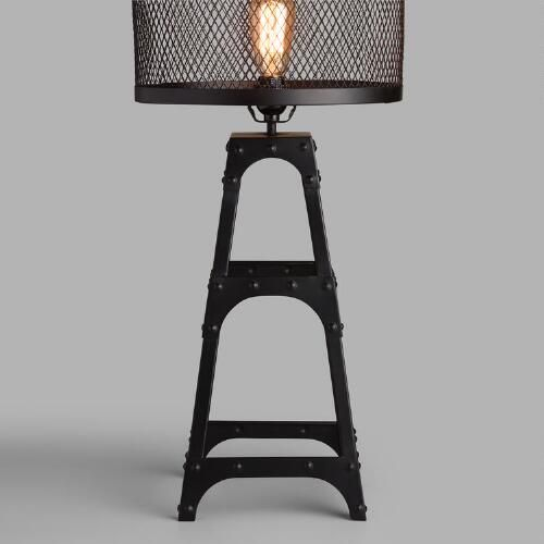 One of my favorite discoveries at WorldMarket.com: Riveted Table Lamp Base