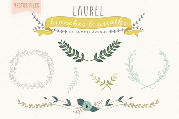 Vector Laurel & Wreath designs by Summit Avenue on @creativemarket