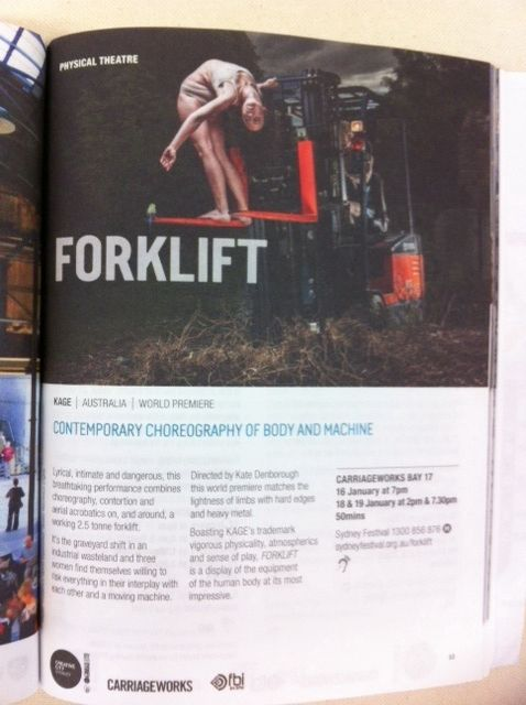 It's our page in the Sydney Festival program - January 2014!