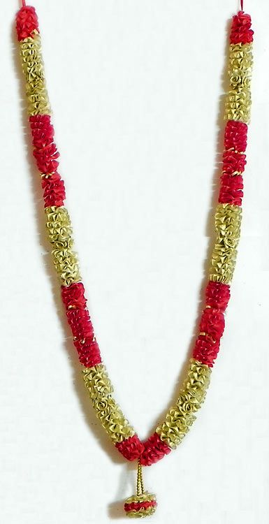 Golden and Red Ribbon Garland