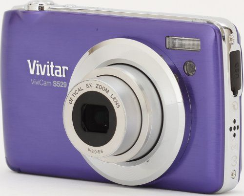 Vivitar VS529-PUR 16.1 Digital Camera with 2.7-Inch TFT LCD (Purple) by Vivitar. $44.99. Anti-Shake, Face and Smile Detection, Movie Clips and Red Eye Reduction