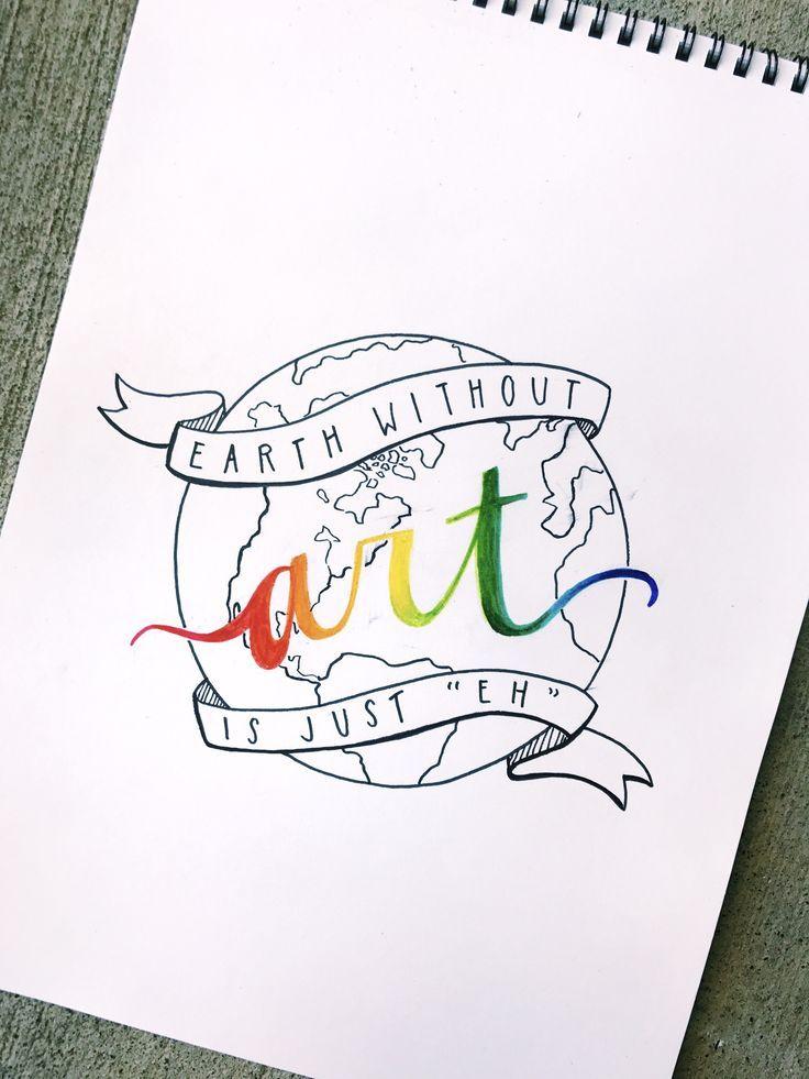Erde ohne Kunst ist nur eh // ig: @ meshellg12art …