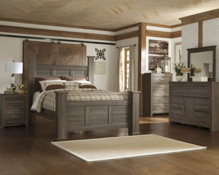 Get Your Juararo 5 Pc. Bedroom   Dresser, Mirror U0026 Queen Poster Bed At  Mattress And Furniture Super Center, ...