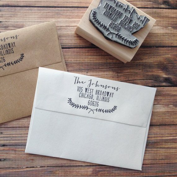 Return Address Vintage Wreath Rubber Stamp by RedCloudBoutique, $26.00