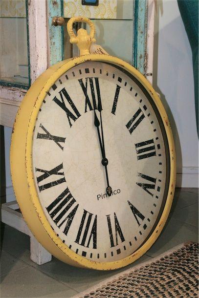 Yellow station clock