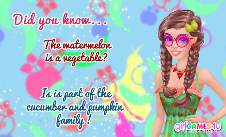 #Didyouknow?  Fruitylicious #fun! ***  #Game's link: http://www.girlgames4u.com/fruity-cutie_s-hairstyling-game.html ✿ ✿ ✿