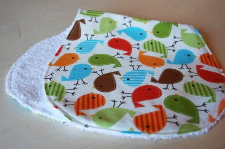 Terry Cloth Burp Cloths - DIY Tutorial | One Crafty Home