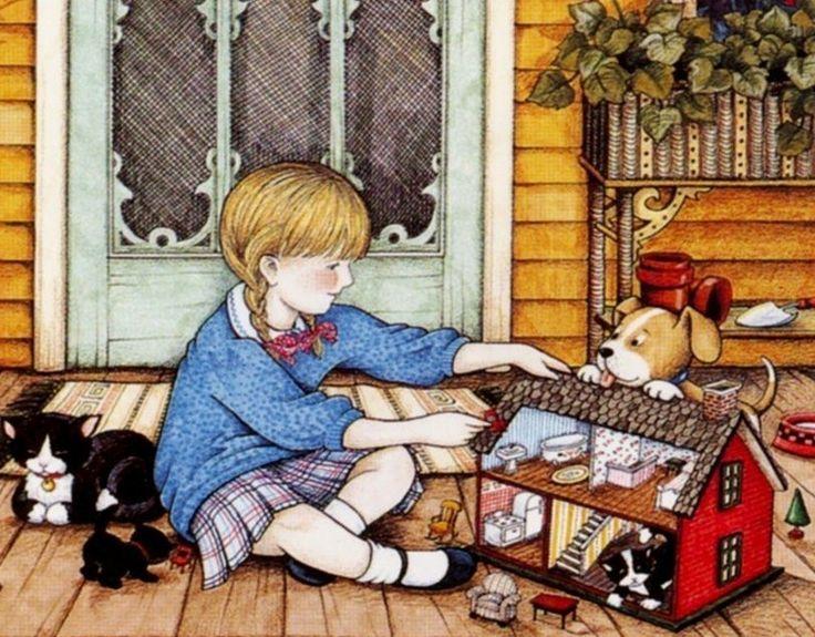 Mary Engelbreit dollhouse illustration