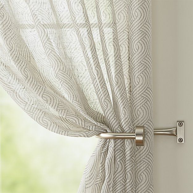 Shop Matte Nickel Curtain Hardware.  Our curtain hardware in contemporary nickel-plated steel with a matte finish provides sleek, simple support for panels or sheers.