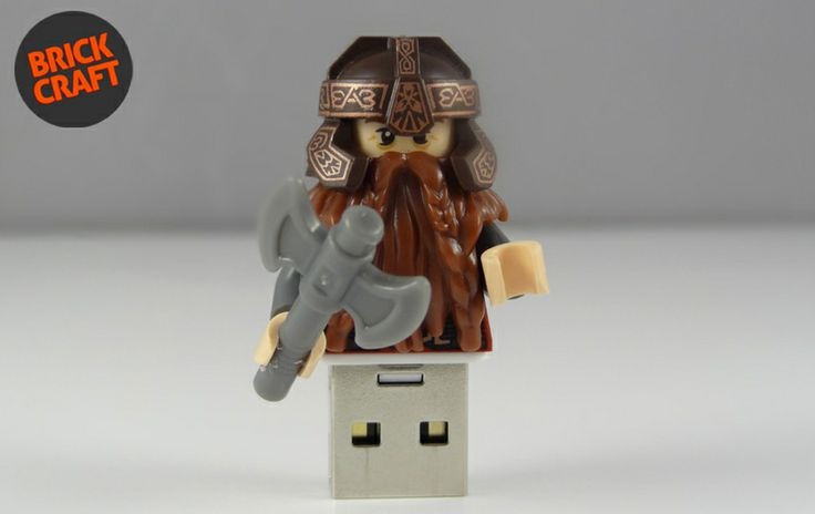 Gimli Pendrive 8GB USB w BRICK CRAFT  #lego #pendrive #flash #minifigures #gimli