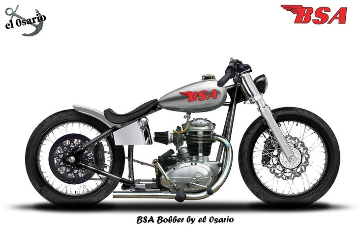 jack455: el0sario: BSA Bobber Rigid frame, BSA engine, HD fork - Old ...