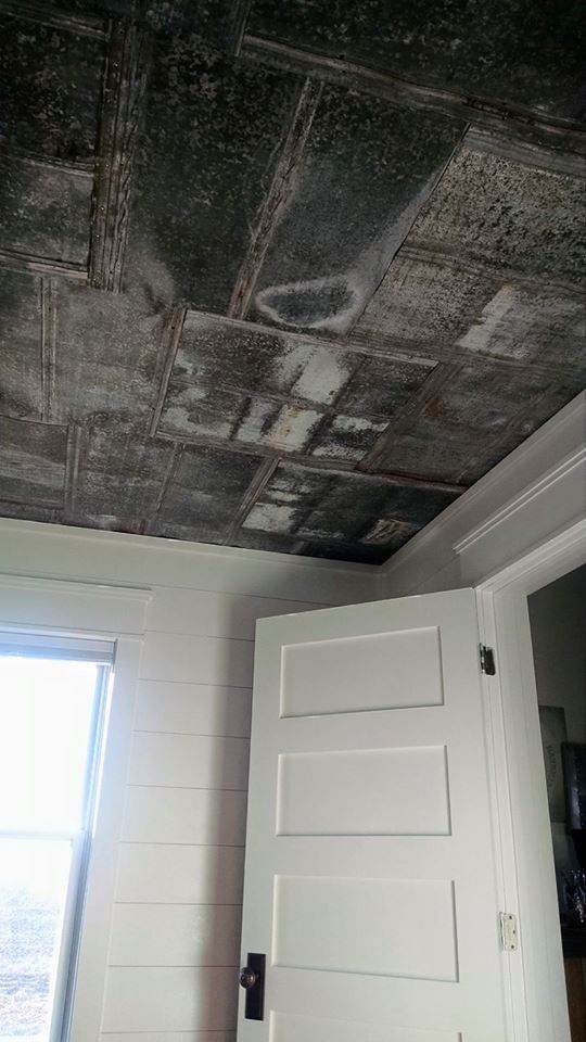 Add The Perfect Farmhouse Look With These Reclaimed Flattened Barn Tin Ceiling Tiles We