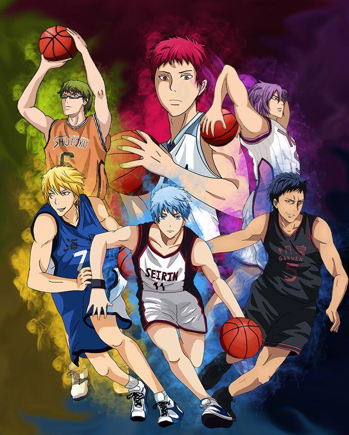 Kuroko No Basket Generation Of Miracles Kise Ryouta Kuroko Tetsuya Aomine Daiki Murasakibara Atsushi Akashi Seiju Kuroko No Basket Kuroko No Basket