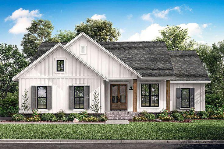 House Plan 041 00203 Modern Farmhouse Plan 1 398 Square