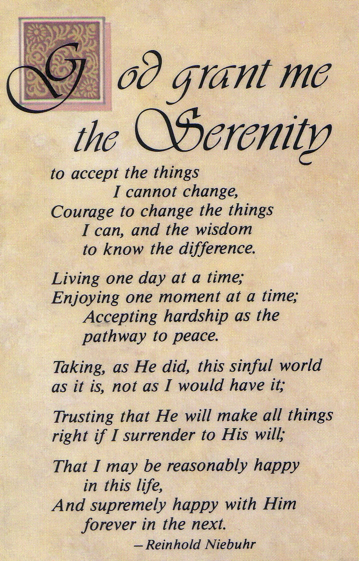 worksheet Serenity Prayer Worksheet 74 best serenity and acceptance images on pinterest thoughts wise full prayer reinhold niebuhr
