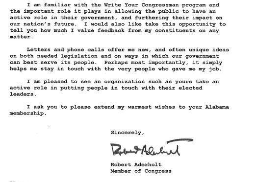 robert brown aderholt is the u representative for alabamas congressional district