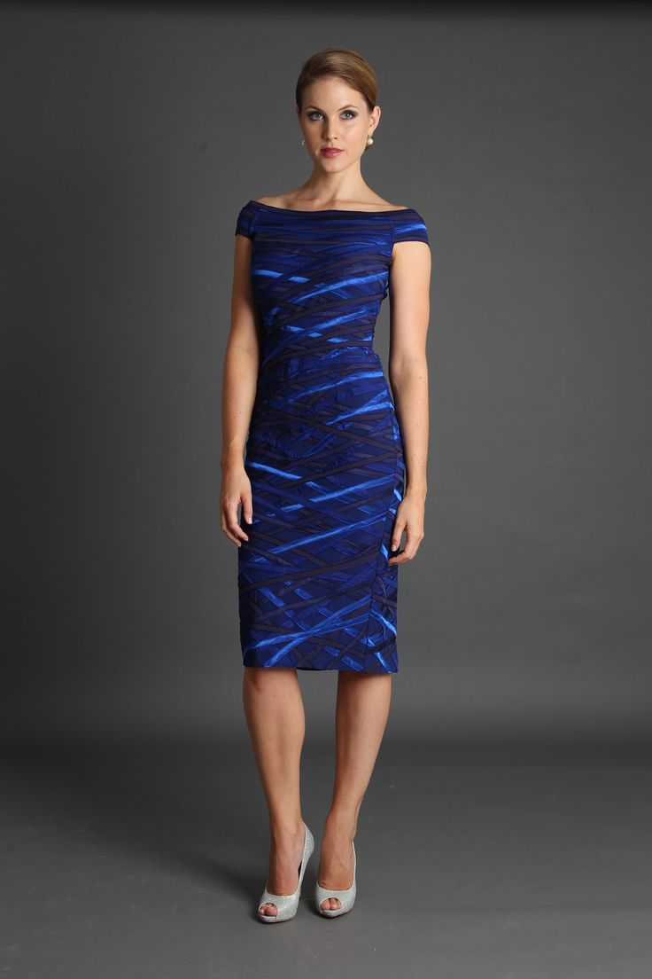 Cobalt Ribbon Dress  www.livingsilk.com.au
