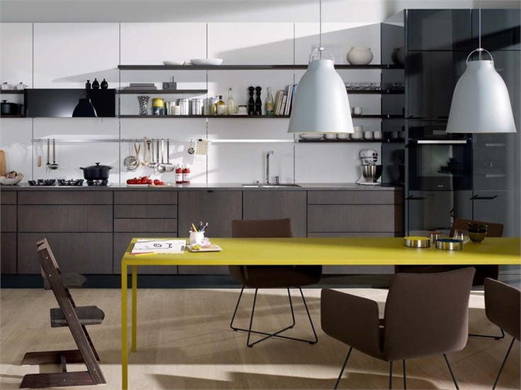 Superb Lacquered wood veneer kitchen SE SieMatic Italia