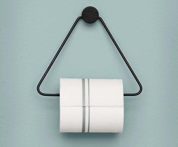 Ferm Living - Toalettpapirholder - Svart