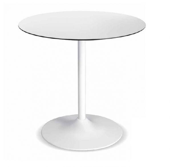 PM 155 - picior din aluminiu, vopsit în alb. PM 155 - aluminum table leg, painted in white.