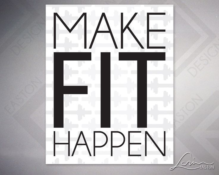 Make Fit Happen - Black Text over Dumbbell Pattern - Archival Print- 8x10, 11x14, 16x20, 20x24, 24x30 by EastonDesign on Etsy