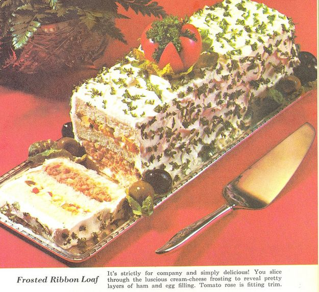Frosted Ribbon Loaf | 21 Truly Upsetting Vintage Recipes