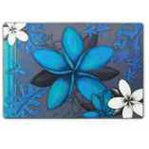 Lisa Pollock Aqua Frangipani plastic placemats, set of 4