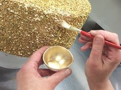 You've seen those sequin cakes right? Here's a quick baking hack to get that awesome look without punching out all those sequins by hand.