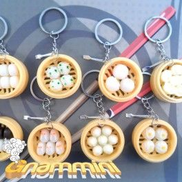 These charms are reproductions of classic Japanese dishes. Each keychain is hand-finished and embellished with a cute lil' fork. Find it on www.Delicute.com