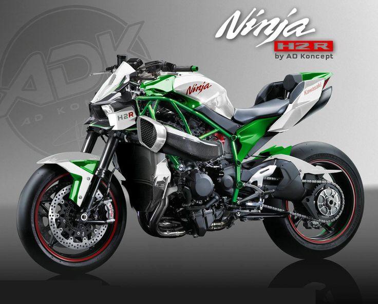 Kawasaki Ninja H2R Streetfighter Concept by AD Koncept