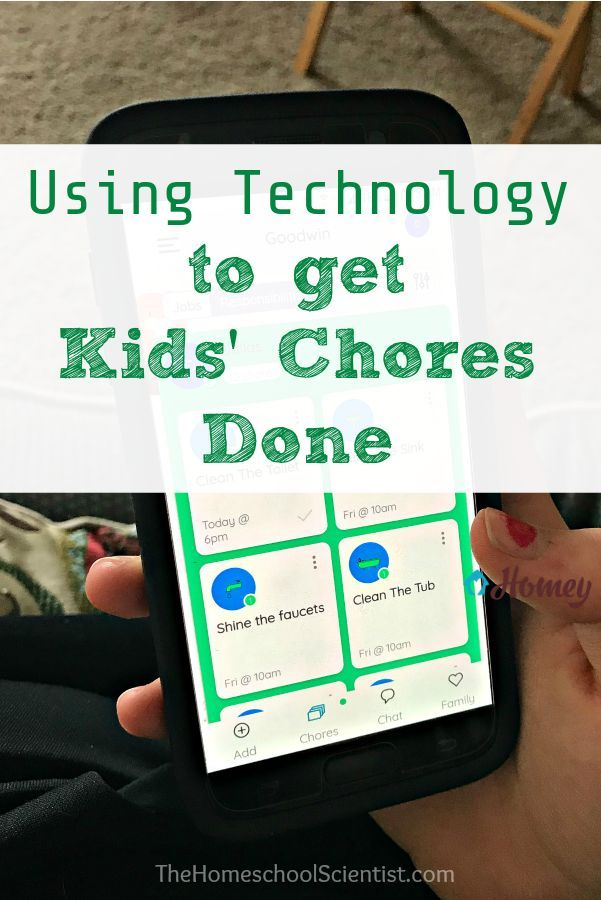 Using Technology To Get Kids Chores Done Learning Websites For Kids Chores For Kids Teenage Chores