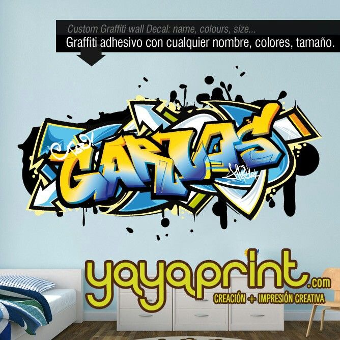 Las 25 mejores ideas sobre graffitis nombres en pinterest for Vinilos infantiles con nombre baratos