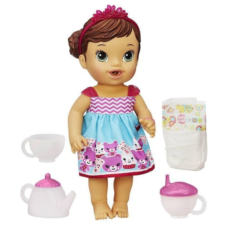 Baby Alive Lil' Sips Baby Has a Tea Party Doll (Brunette) Hasbro #HasbroBABYALIVE