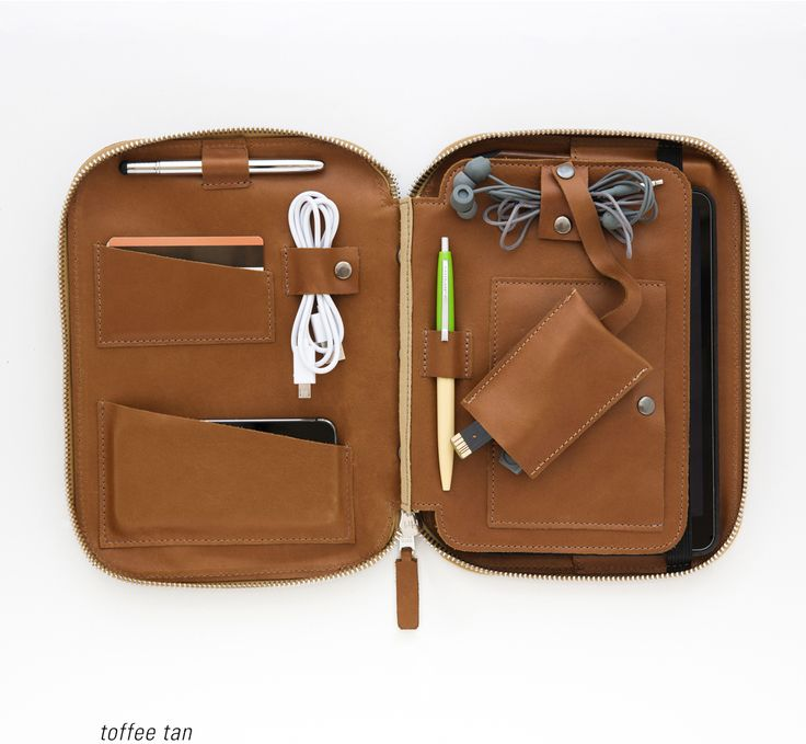 This Is Ground Mod organizer for iPad Mini, in Toffee Tan. $250