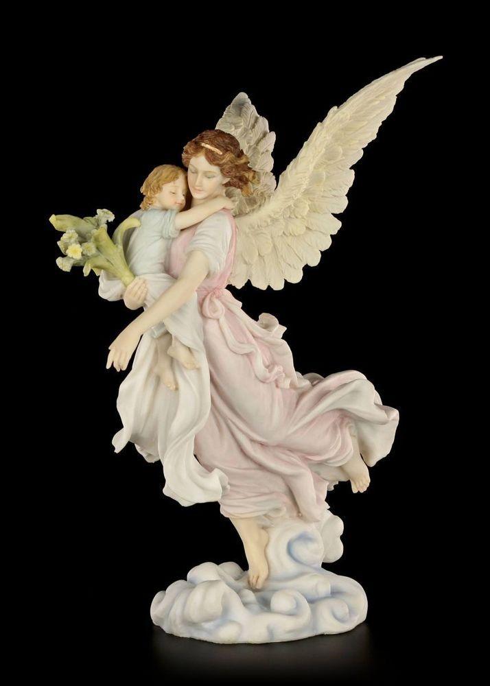Schutzengel Figur - Wacht über Kinder - Engel Flügel fliegen Veronese Deko