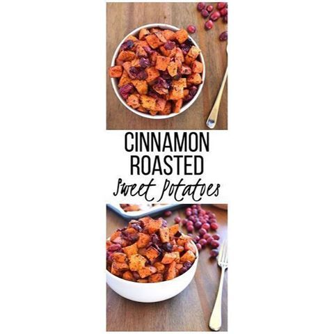 I'm going to share some of the #recipes for our #thanksgiving dinner!! Please share some of yours in the comments below!! ❤️❤️❤️Cinnamon Roasted Sweet Potatoes & Cranberries Ingredients  6 cups chopped sweet potatoes 8 ounce bag of cranberries 1 tablespoon coconut oil (melted) 1 tablespoon maple syrup 2 teaspoons cinnamon 1 teaspoon salt Directions  Preheat oven to 400 degrees. In a large bowl combine sweet potatoes, cranberries, coconut oil and maple syrup. Stir mixture until potatoes and…