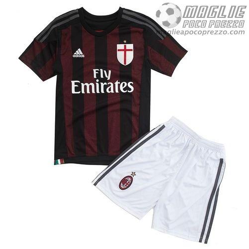 Home Maglie Calcio Bambini Milan AC 2015-16  €15.5