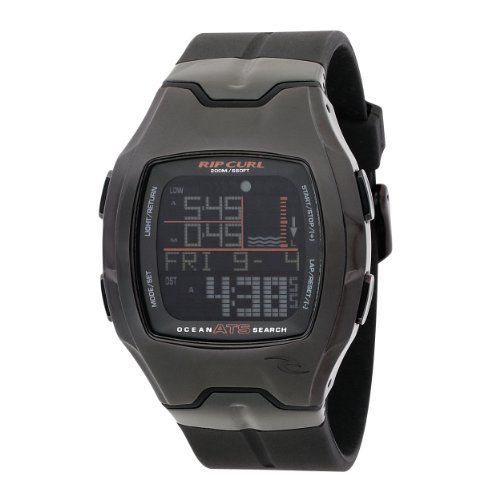 Rip Curl Men's A1051-MID Rincon Oceansearch Midnight Polyurethane Tide Watch Rip Curl. $164.92. Dual Time, Light, Countdown Timer, Stop watch, Alarm, and date functions. 316L stainless steel case: The highest grade of stainless steel for water resistance, strength and non-corrosion in a marine environment.. Water-resistant to 660 feet (200 M). Automatic Tide System (ATS): Rip Curl's patented averaging tide system. Easily set to thousands of beaches worldwide.. Preprogrammed Ti...
