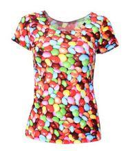 Sexemara avontuur tijd cartoon gedrukt t-shirts zomer stijl gilr dames kleurrijke fitness t-shirts vrouwen kleding x-177(China (Mainland))