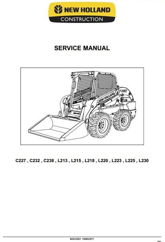 Original Illustrated Factory Workshop Service Manual for New Holland Skid Steer Loader L, C -Series.Original factory manuals for New Holland Trucks, contains high quality images, circuit diagrams and instructions to help you to operate, maintenance and repair your truck. All Manuals Printable, cont