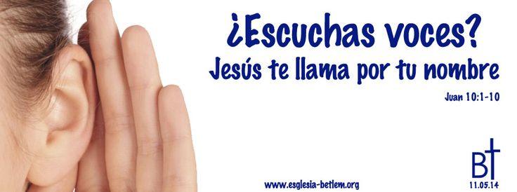 Tema de la reflexión del domingo 11.5.14 a las 11h a cargo de nuestro pastor Víctor Hernández.