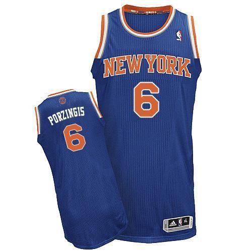 Kristaps Porzingis Blue Stitched NBA New york Knicks Jersey