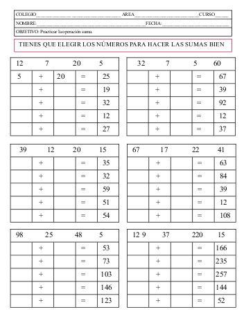 Modelos didácticos para primaria: Composición y descomposición de números.