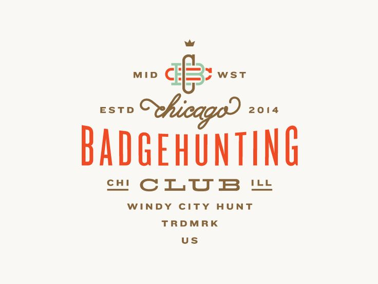 Chicago Badgehunting Club by Allan Peters: Design Inspiration, Graphic Design, Logo Design, Peter O'Toole, Mark, Badgehunting Clubs, Logos Badges, Chicago Badgehunting