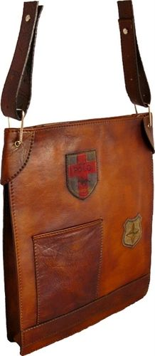 Bakem Large Leather Messenger